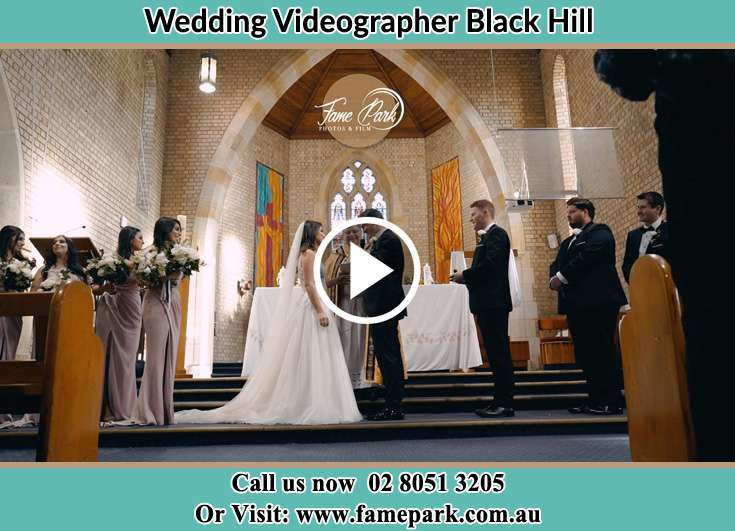The wedding ceremony Black Hill NSW 2322
