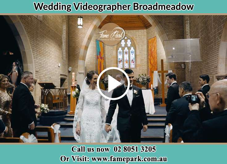 The newly weds walking Broadmeadow NSW 2292