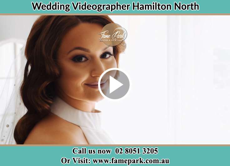 The Bride smiling on the camera Hamilton North NSW 2292
