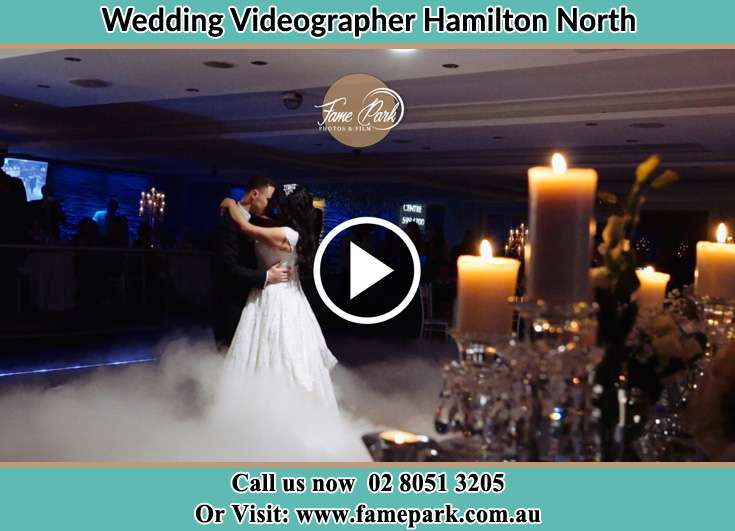 Bride and Groom looking at each other while dancing Hamilton North NSW 2292