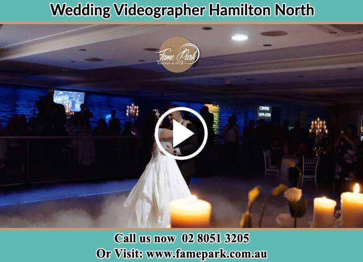 Bride and Groom at the dance floor Hamilton North NSW 2292