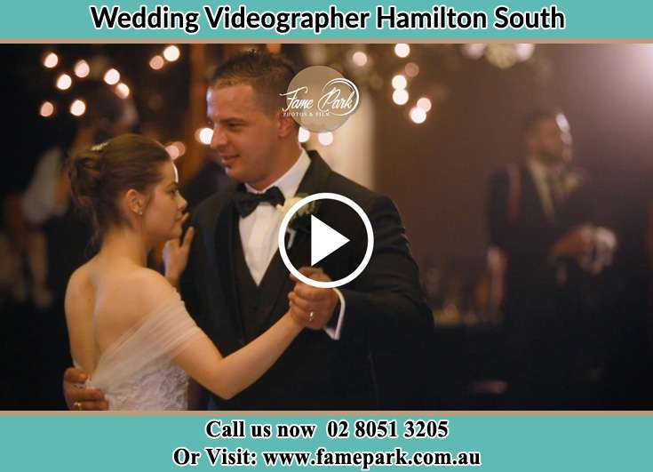 Bride and Groom dancing at the dance floor Hamilton South NSW 2303