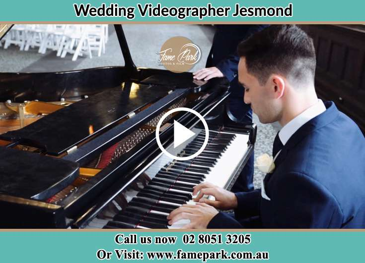 The Groom playing the piano Jesmond NSW 2299