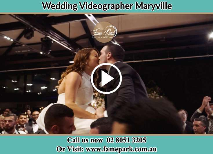 The newly weds kissing Maryville NSW 2293