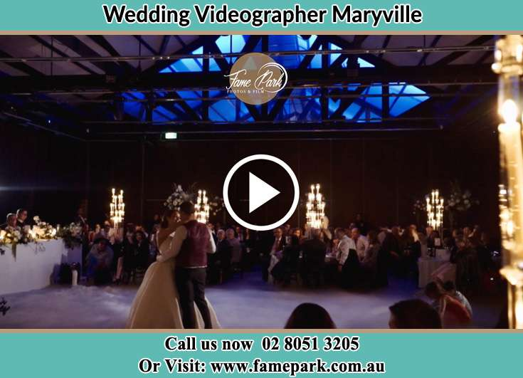 Bride and Groom at the dance floor Maryville NSW 2293