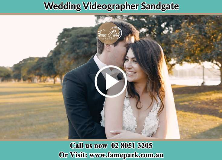 The new couple hugged at the yard Sandgate NSW 2304