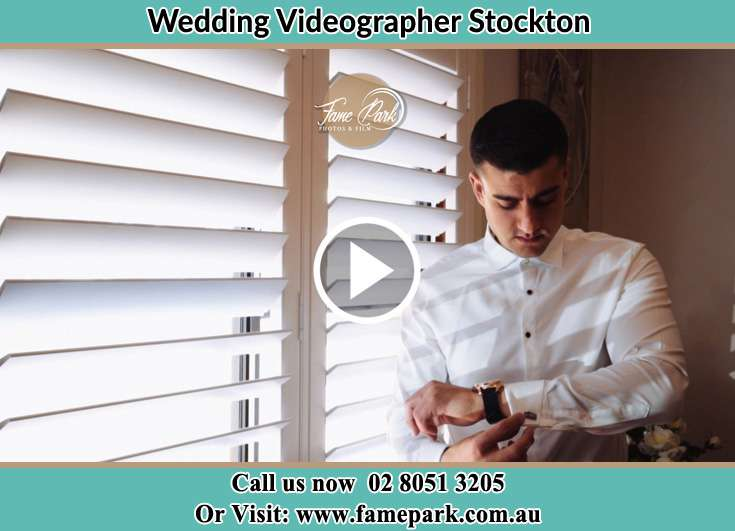 Groom Getting ready Stockton NSW 2295