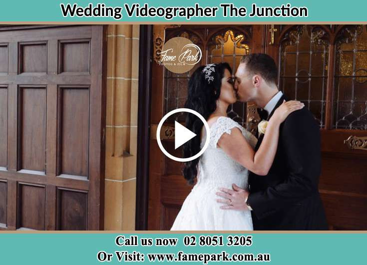 The newly weds kissing The Junction NSW 2291