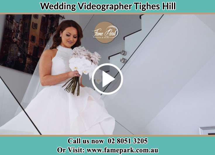 The Bride holding flower bouquet Tighes Hill NSW 2297