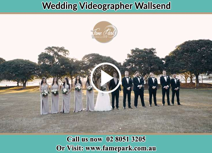The Bride and the Groom with the entourage Wallsend NSW 2287